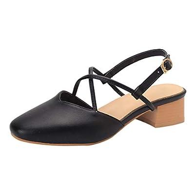 Lurryly Fashion Women's Sandals High Heels Cross Belt Buckle Sandals Casual Roman Sandal