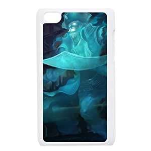 iPod Touch 4 Case White League of Legends Spooky Gangplank LOL-STYLE-3252