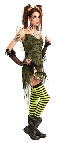 Rubie's Costume Adult Tattered Fairy Costume, Green, Large