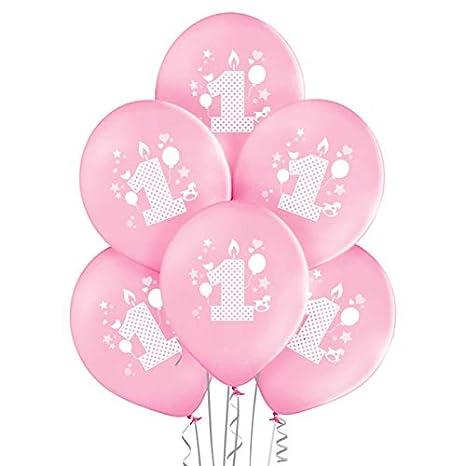 Ocballoons Palloncini 1 Compleanno Rosa Addobbi E Decorazioni Per