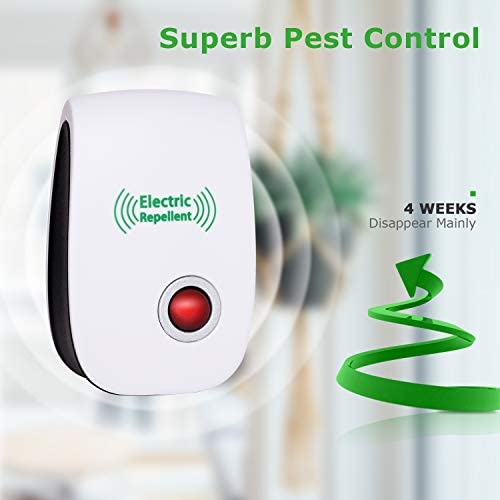 2020 Newest Ultrasonic Electronic Pest Repellent, Pest Repeller Plug in Indoor Usage, Best Pest Repell to Bugs, Insects Mice, Ants, Mosquitoes, Spiders, Rodents and Roach(6 Packs) 41 08eMghfL
