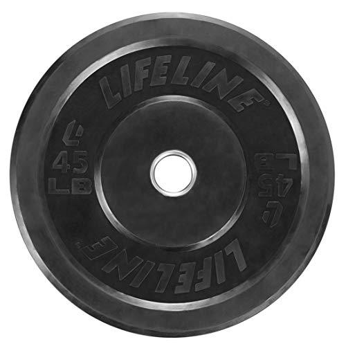 Lifeline Olympic Rubber Bumper Plate, 45 lb