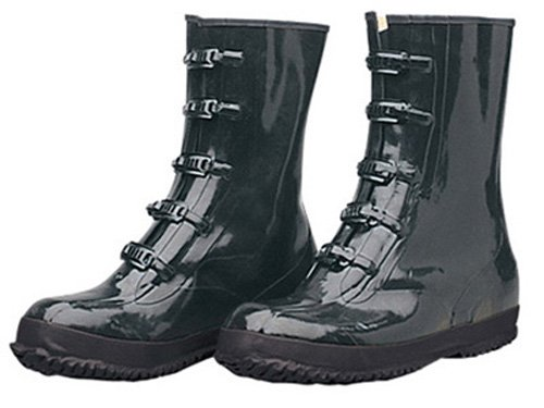 Liberty DuraWear Rubber Fabric Lined Protective Arctic Men's Boot with 5 Buckles, Size 14, Black