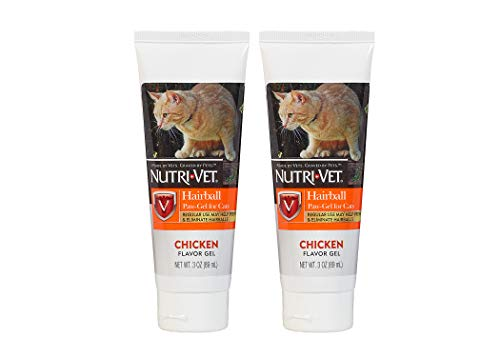 Hairball Paste - Nutri-Vet Feline Natural Oil Hairball Paw-Gel Chicken Flavor 3oz - Pack of 2