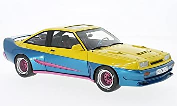 Opel Manta B Mattig, yellow/blue, 1991, Model Car, Ready-
