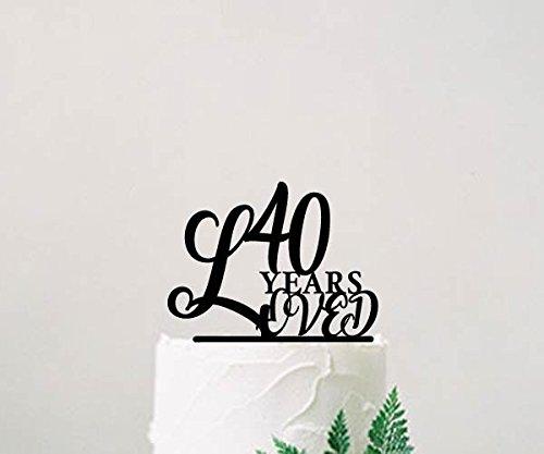 Decoración para tarta de cumpleaños, 40 años, decoración ...