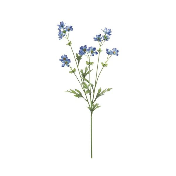 27.5″ Silk Baby Cosmos Flower Spray -Blue (Pack of 12)