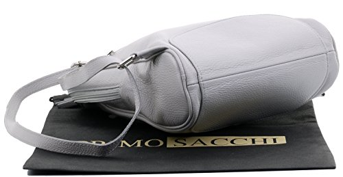® Mesdames rangement de incudes Grab main marque texturé sacs protection cuir Primo sac de Gris bandoulière à dos Rucksac en Sac de italiennes Sacchi Moyen à sac à E5x4Aq
