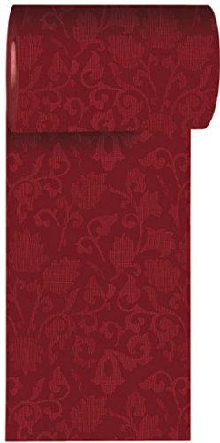 Duni Tischband aus Dunicel Damast-Druck bordeaux, 15 cm x 20 m