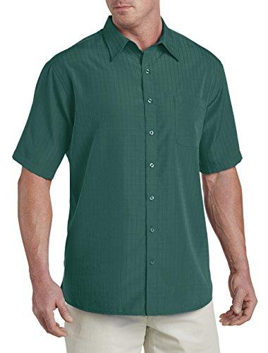 Harbor Bay Big And Tall (Harbor Bay by Dxl Big and Tall Short-Sleeve Microfiber Sport Shirt, Shaded Spruce 2Xtall)