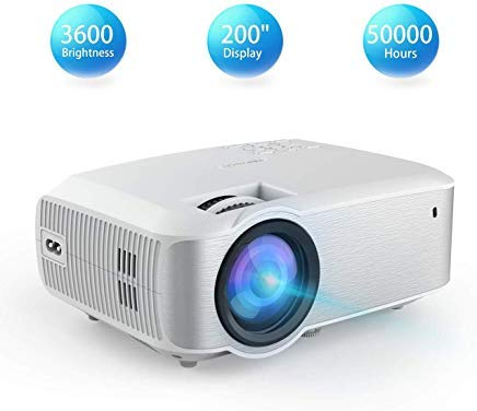 Video Projector, TOPVISION Full HD LED Projector with 3600Lux 2019 Upgraded, 60,000 Hrs Home Movie Projector 1080P Supported for Indoor/Outdoor, Compatible with Fire TV Stick, PS4, HDMI, VGA, AV, USB (Best Hd Projector Under 200)
