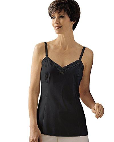 Shadowline Adjustable Strap Camisole, Black, 44