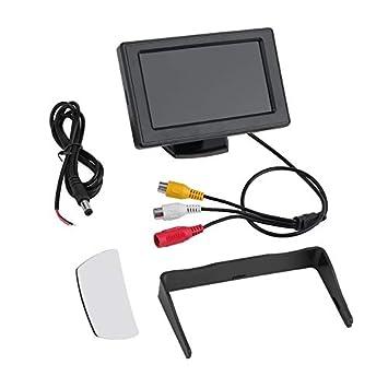 Estilo clásico 4.3 TFT LCD Retrovisor Monitores de Coches para DVD GPS Cámara de Copia de Seguridad inversa Accesorios de conducción de vehículos: ...