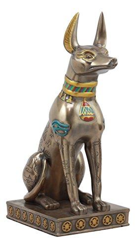 Ebros Large Egyptian Jackal Dog Anubis Statue 12.5