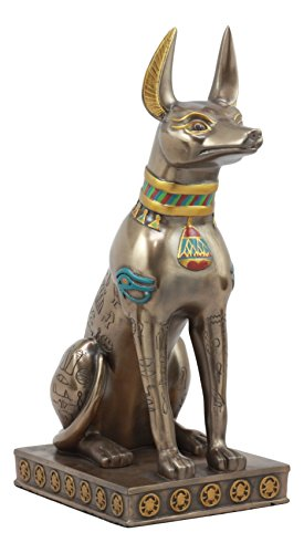 Ebros Large Egyptian Jackal Dog Anubis Statue 12.5 Tall Classical Deity God Of Mummification And Afterlife Egypt Culture As Home Decorative Desktop Statue Decor For Ancient Civilization Fans