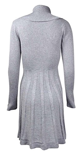 Calvin Klein Womens Cowl Neck Metallic Sweaterdress Photo #2