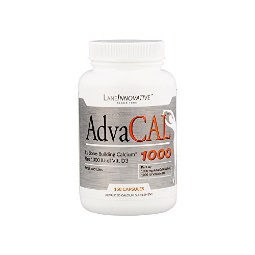 Lane Labs - AdvaCAL 1000, Advanced Calcium Supplement, Easy to Swallow Extra Small Capsule, Supports Increased Bone Density (150 Capsules) ()