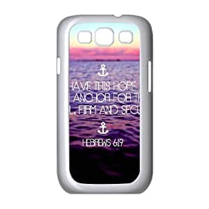 Anchor Typography Samsung Galaxy S3 Case, Doah - White