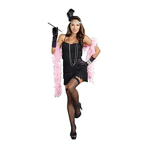 Flapper Girls Costumes (Dreamgirl Women's Flapper Costume, Black, Small)