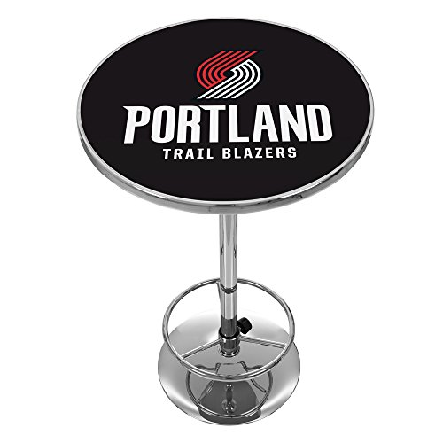 NBA Portland Trailblazers Chrome Pub Table by Trademark Global