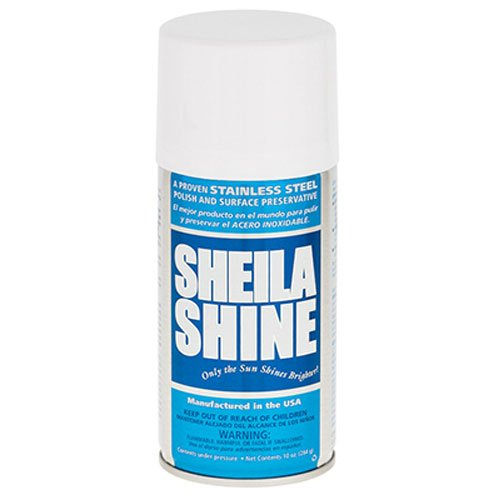 Sheila Shine Stainless Steel Cleaner and Polish, 10 Ounce Aerosol (1EA)