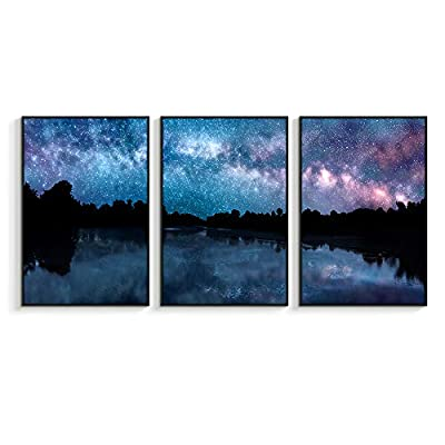 Framed Canvas Wall Art for Living Room, Bedroom Sky Space View Canvas Prints for Home Decoration Ready to Hanging - 16