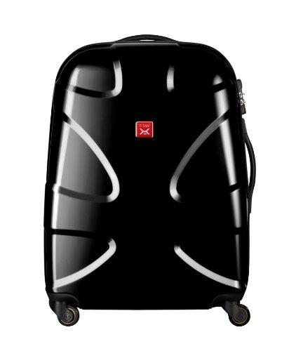 Titan Luggage X2 Flash 4-Wheel 27-Inch Trolley, Black, 27, Bags Central
