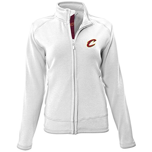 - NBA Cleveland Cavaliers Adult Women Ladies Tranquil Icon Heather Full Zip Mid-Layer, Medium, White