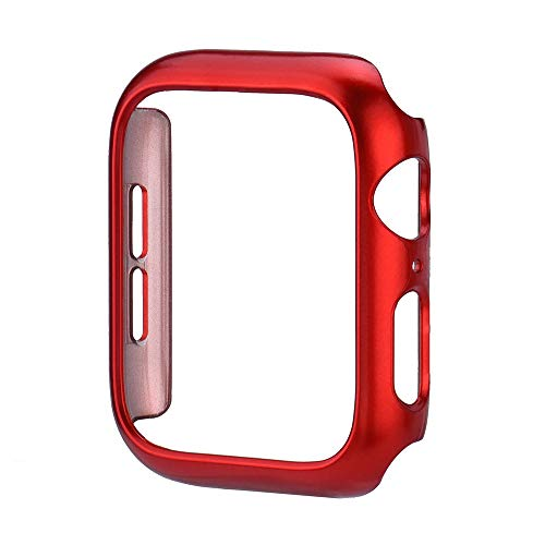 Cywulin Apple Watch Case 40mm 44mm, Protective Rugged Armor PC Bumper All-Around Shock Proof Scratch Resistant Replacement Ultra-Thin Cover for iWatch Series 4 Nike+ Sport Edition (44mm, Red)