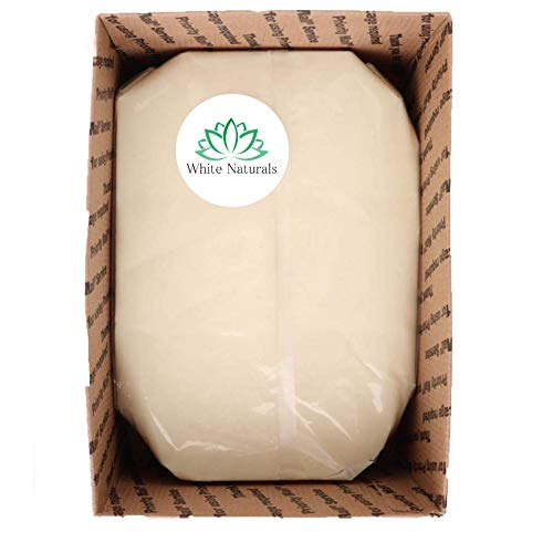 Bulk Shea Butter 5 lb By White Naturals - Unrefined, 100% Pure, Raw, Grade A, Use As Skin Moisturizer, Lip Balms, Stretch Marks, Acne, Recover Sun Damage, Kids Cream & More! (5 lb)