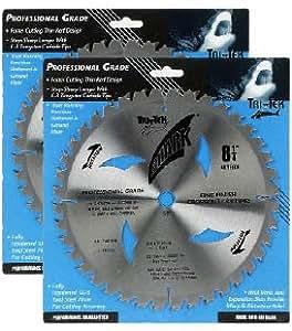 "Shark Pro-series (2 Pack) 8-1/4 inch 40 Teeth Carbide 5/8"" arbor hole DKO Thin Kerf ATB Circular Saw Blade ""Ship FREE buy $25+"""