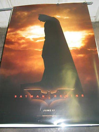 - BATMAN BEGINS / ORIG. U.S. TEASER A ONE-SHEET MOVIE POSTER (CHRISTIAN BALE) DS