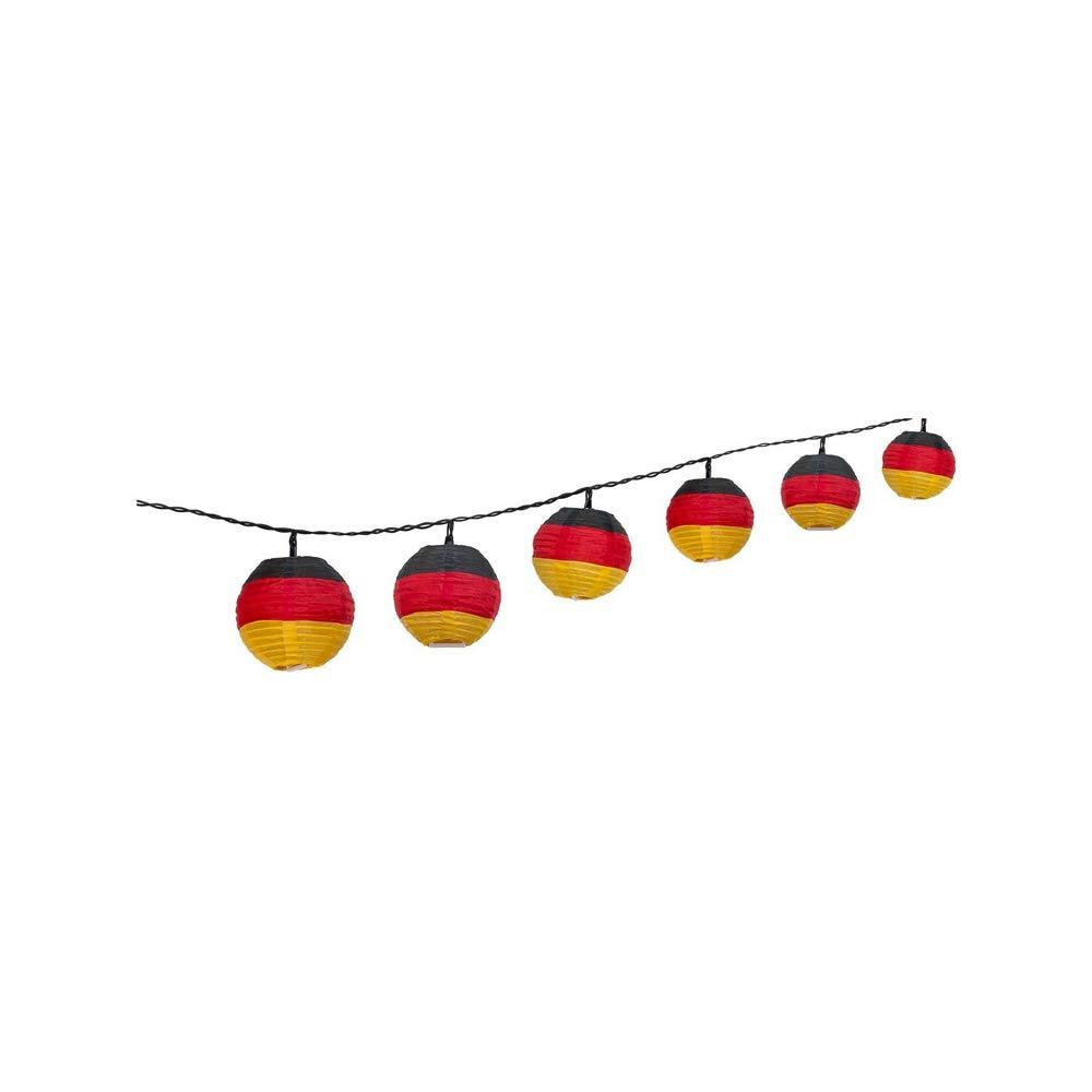 Goobay LED Luz Cadena Ledes 10 DE Fú tbol Alemania Jardí n, Funciona con Pilas 55605