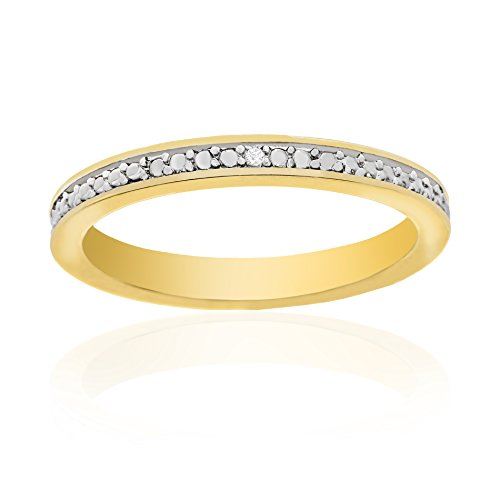 Traditional Greek Dress (Lumineux Diamond Womens Diamond Accent Wedding Band Ring, Gold Plated Brass, Size 8)