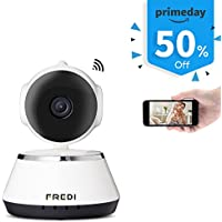 FREDI 720P HD Pan/Tilt WiFi IP Camera Indoor Wireless Security Camera with 2-way audio IR Night Vision for Smart Phone