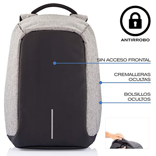 a67073f7d65e3 Amazon.com  XD Design Bobby Original Anti-Theft Laptop Backpack with USB  port (Unisex bag)  Computers   Accessories