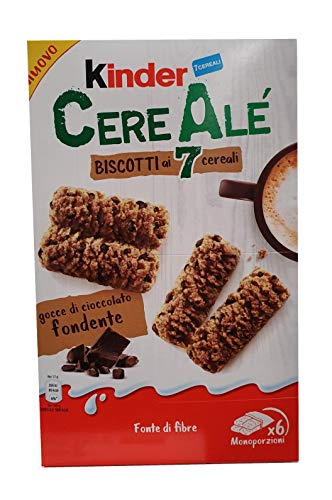 3X Kinder Cerealè Biscotti ai 7 cereali 7 Cereal Biscuits with Dripping Chocolate
