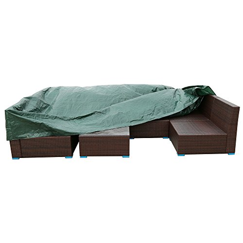 UnionBoys Outdoor Patio Furniture Set Cover Waterproof Green Patio Furnitu