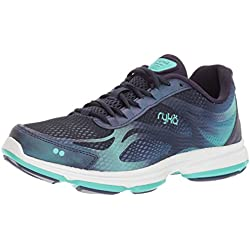 Ryka Women's Devotion Plus 2 Walking Shoe, Navy/Teal, 8.5 M US