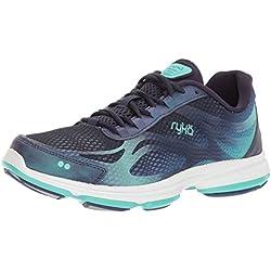 RYKA Women's Devotion Plus 2 Walking-Shoes, Navy/Teal, 8.5 M US
