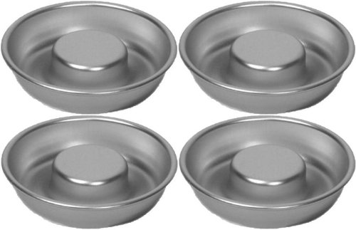 Alan Silverwood 4¼'' Baby Savarin (Rum Baba) Cake mould mold pan, set of 4, 54744 by Alan Silverwood