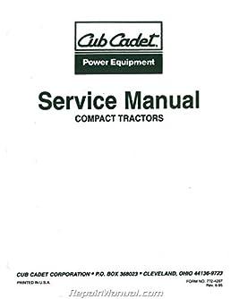 js ih s 7305 cub cadet 7000 series compact tractor service manual rh amazon com cub cadet shop manuels xt1 enduro Cub Cadet Parts Manual