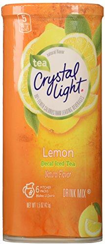 Crystal Light Decaf Iced Tea Drink Mix, Natural Lemon Flavor