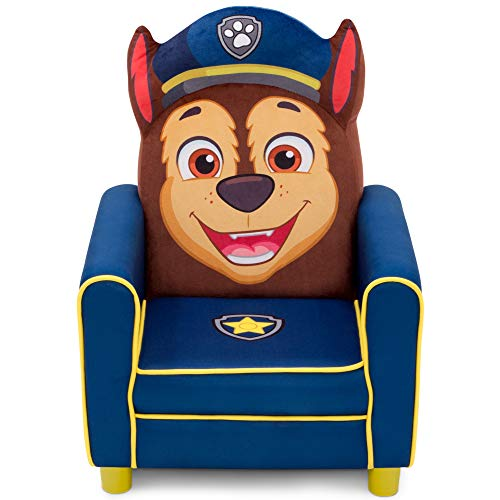 Delta Children Figural Upholstered Kids Chair, Nick Jr. PAW Patrol Chase, Blue (Delta Childrens Products Spider Man Figural Chair)
