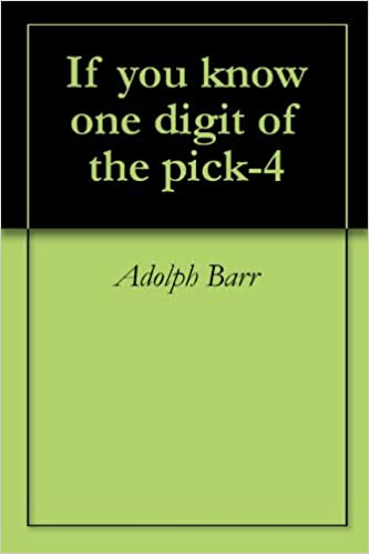 If you know one digit of the pick-4