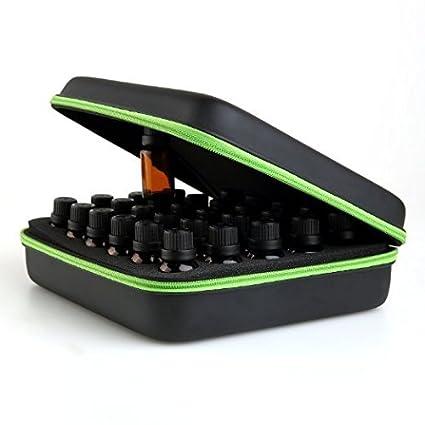 Homeself impermeable carcasa rígida 30 botellas aceite esencial Funda de transporte, caja de almacenamiento, perfecto para aceite esencial 10 ml 15 ml ...