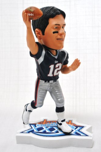 New England Patriots Official NFL #12 Tom Brady rare SUPER BOWL 39 action Bobble Head by forever