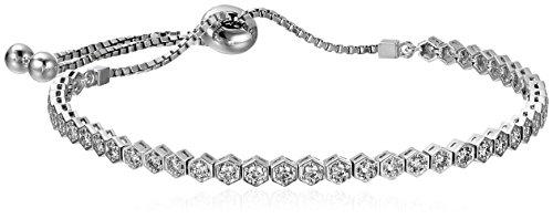 14k White Gold Adjustable Diamond Bracelet (1 cttw, K-L C...