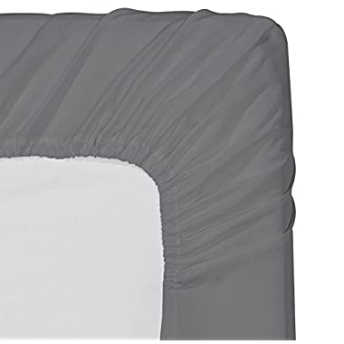 Fitted Sheet King - Grey - Deep Pocket Brushed Velvety Microfiber, Breathable, Extra Soft and Comfortable - Wrinkle, Fade, Stain and Abrasion Resistant - by Utopia Bedding
