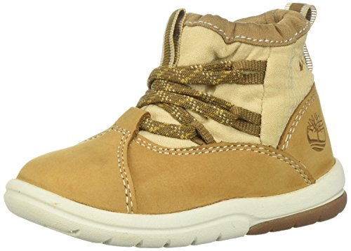 Timberland Baby Toddle Tracks Warm Fabric Leather Bootie Snow Boot, Wheat Nubuck, 9.5 M US Toddler (Infant Timberland Boots)